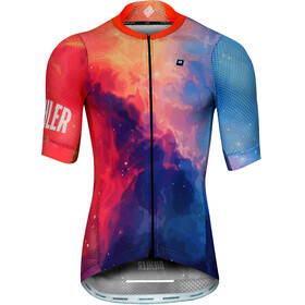 Biehler Pro Team Bike Jersey Shortsleeve Men orange/blue